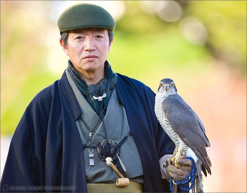 Japanese Falconer with Bird