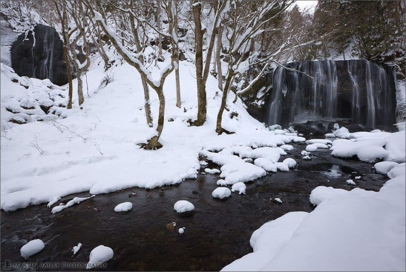 Both Tatsusawa Falls in Winter