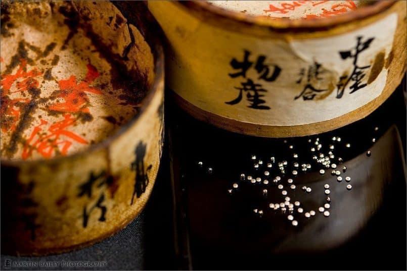 Lacquer Pots with Maki-e Studs