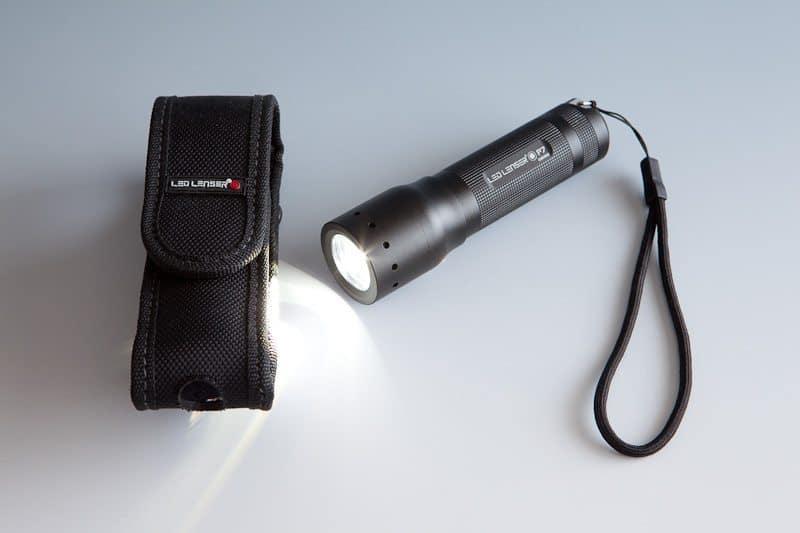 A LED LENSER P7 flashlight shot with this setup