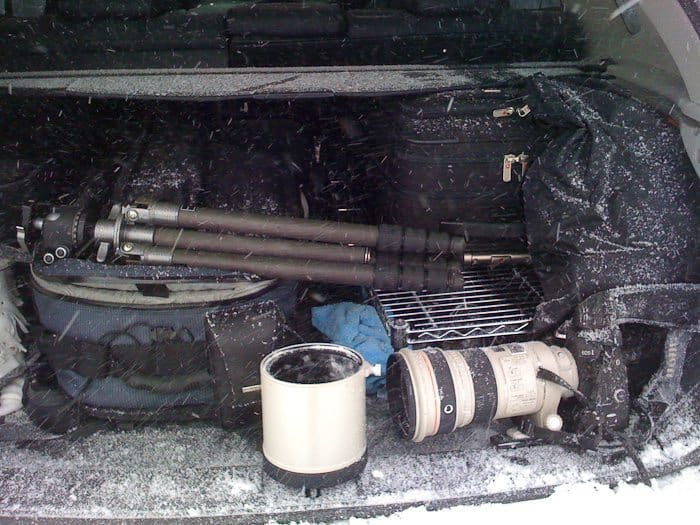 Martin's Gear in the Trunk of the Car