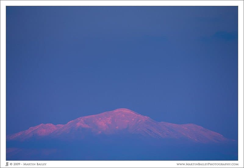 Last Light on Mount Asahi