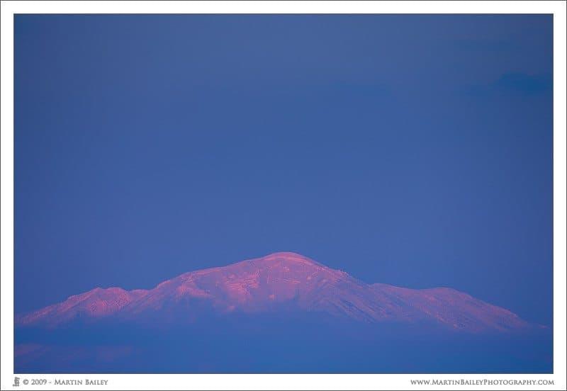 Last Light on Mount Asahi