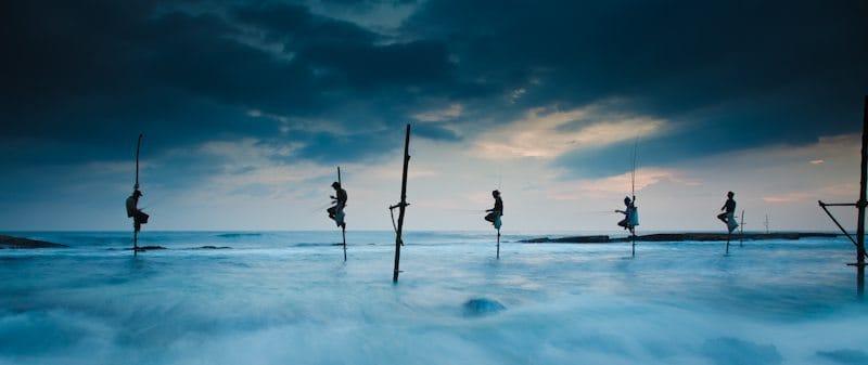 Stilt Fishing in Weligama, Sri Lanka (© Christopher White)
