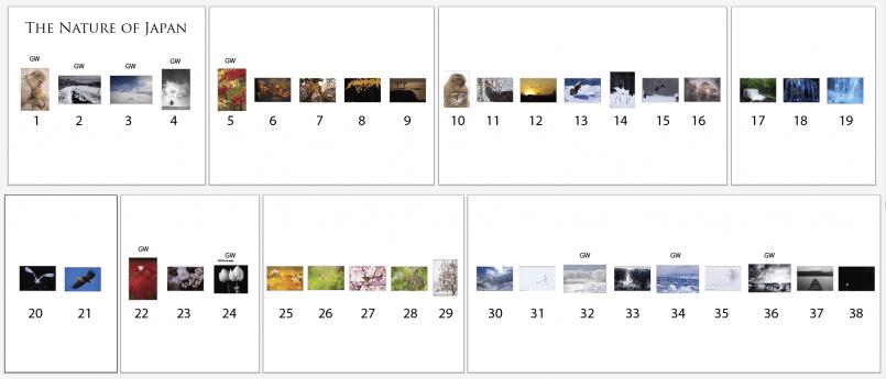 Exhibition Pieces in Order