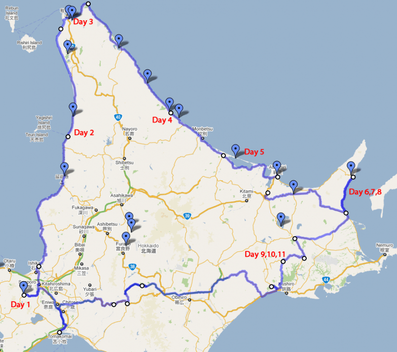 Hokkaido Travel Plans