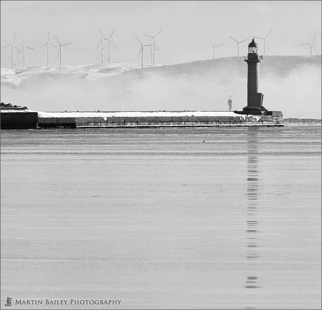 Lighthouse with Sea Mist