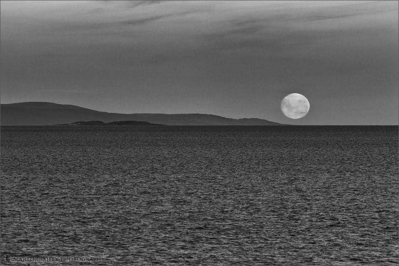 Moonrise Over the Beagle Channel