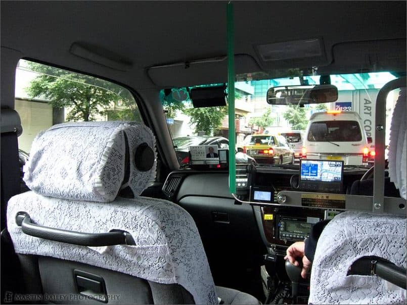Traveling to Main Jikei Hospital by Taxi