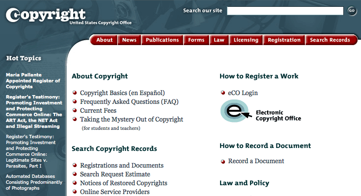 Copyright.gov Page