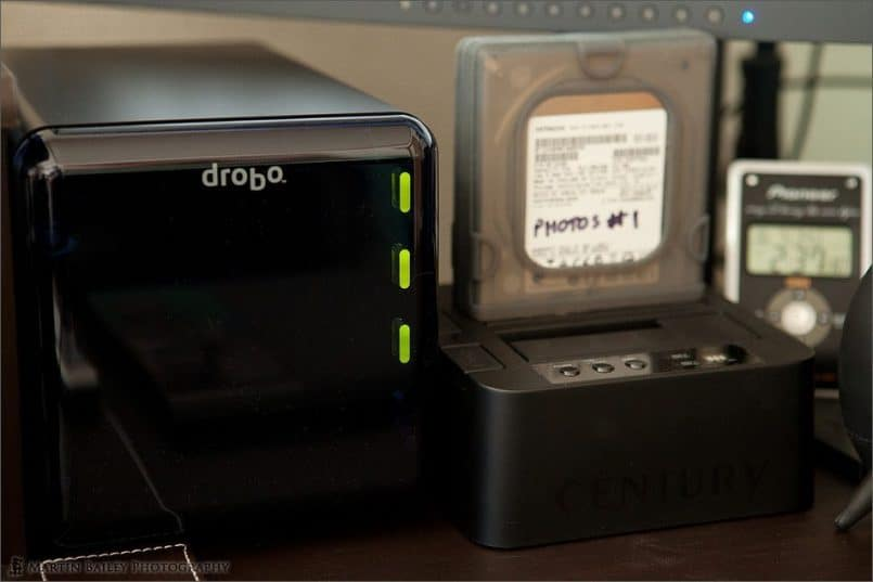 Drobo with 3 Drives Loaded