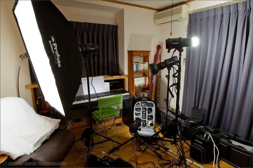 Four Profoto D1 500 Monolights on a BatPac