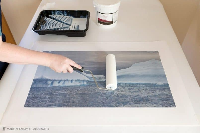 Laminating a Canvas Print for Gallery Wrap