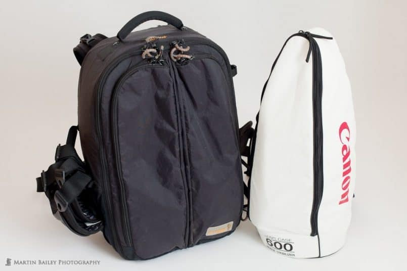 The Guragear Kiboko bag and 600mm Canon Lens Case