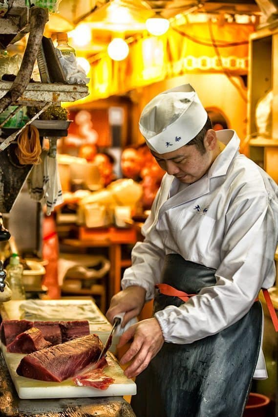 Cutting the Maguro