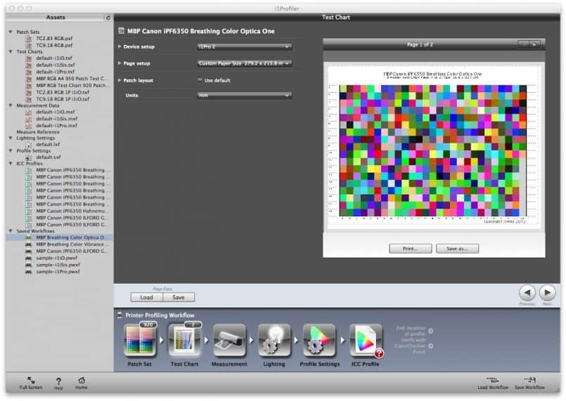 Printer Profiling Targets