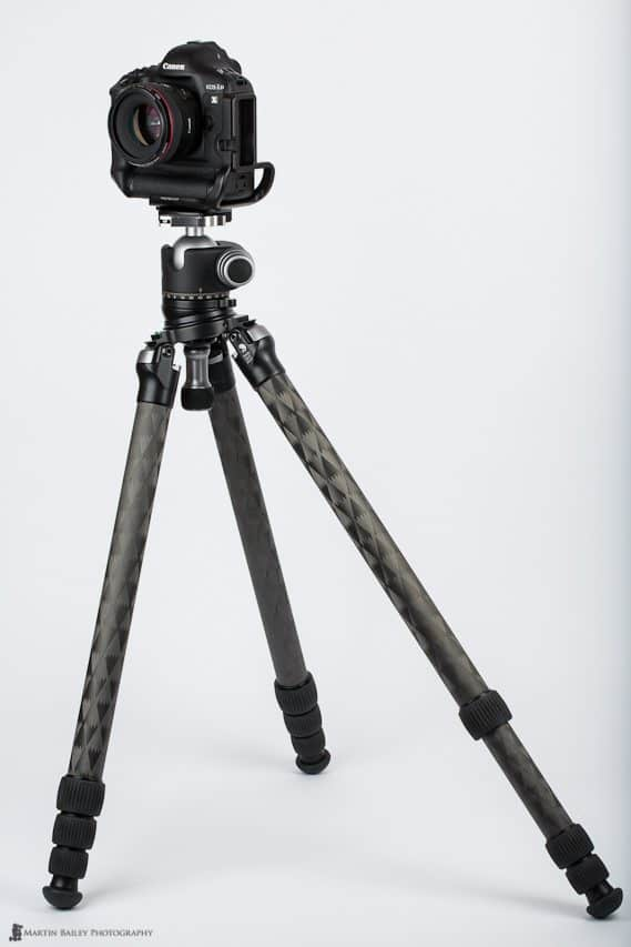 TVC-34L Tripod with Leveling Base Correcting Unlevel Tripod