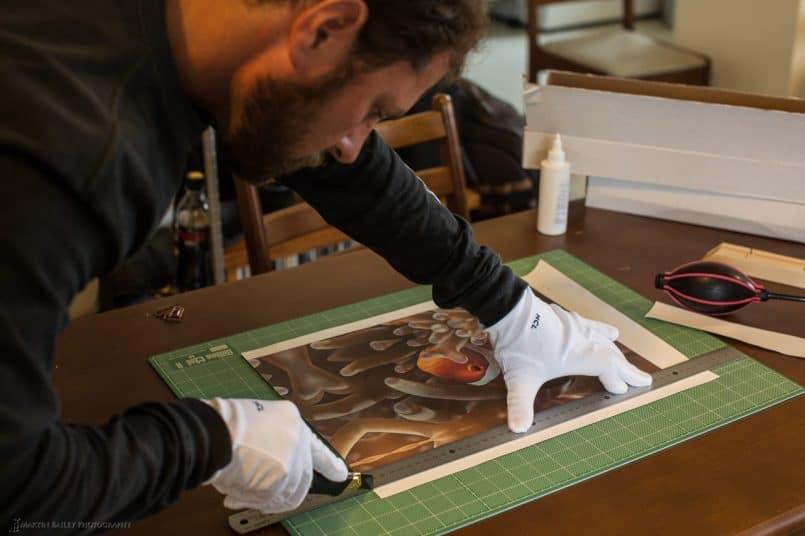 Shawn Miller Trimming his Clown Fish Print