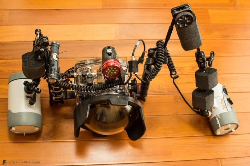 Shawn Miller's Underwater Photography Rig