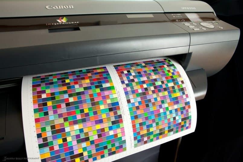 Printing Printer Profiling Targets
