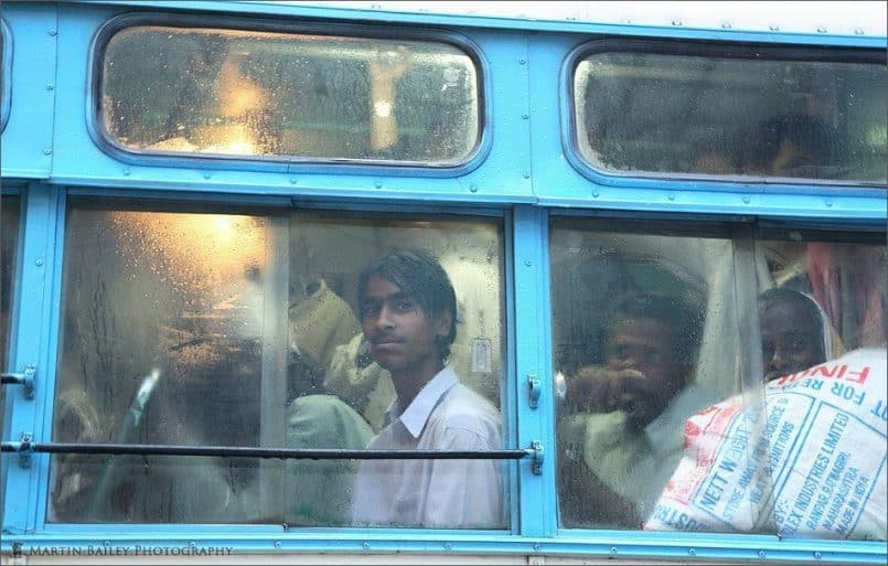 Young Man on Bus