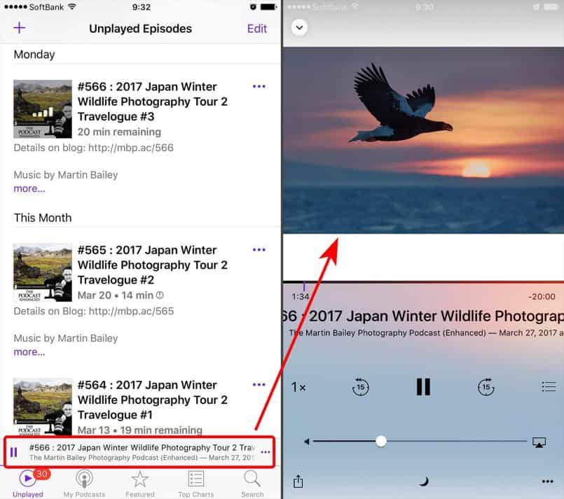 Viewing Images in iOS Podcasts App