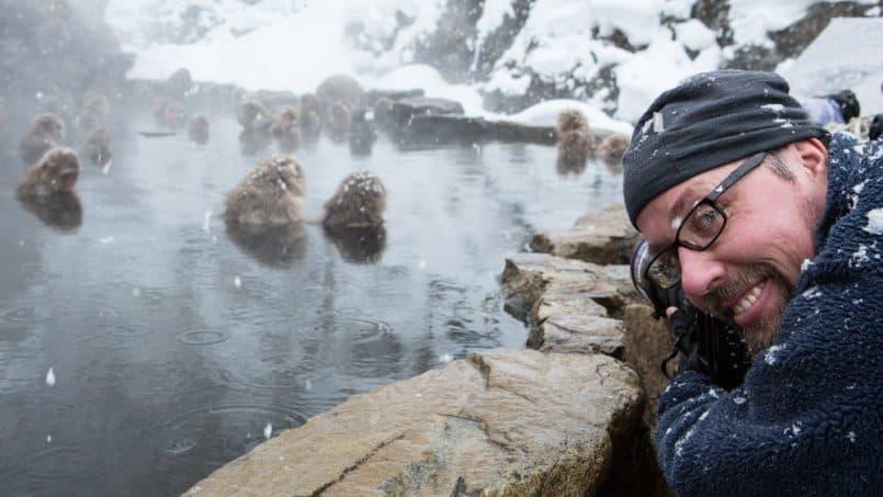 David duChemin with the Snow Monkeys