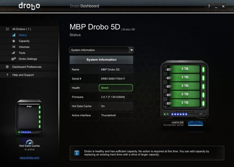 Drobo 5D Screenshot