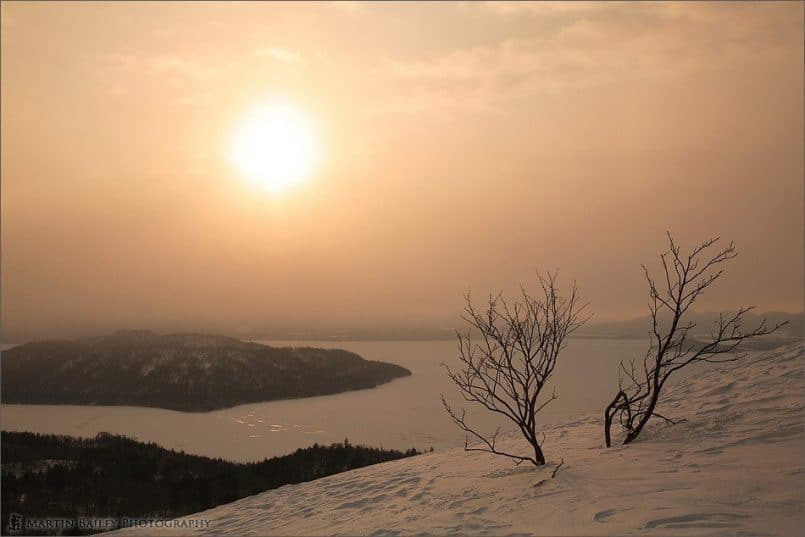 Sunrise Over Kussharo Lake from Bihoro Pass #2