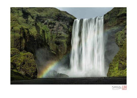 Skógafoss (Falls) with Rainbow