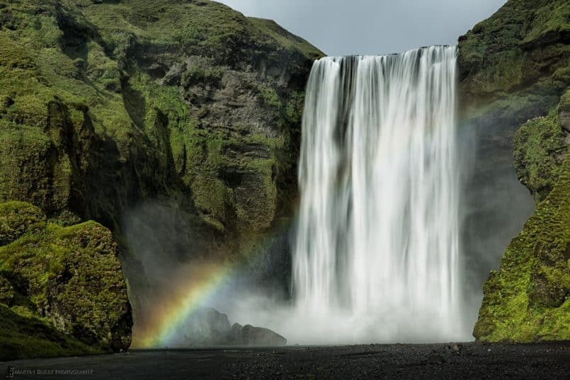 Skógafoss (Falls) with Rainbow