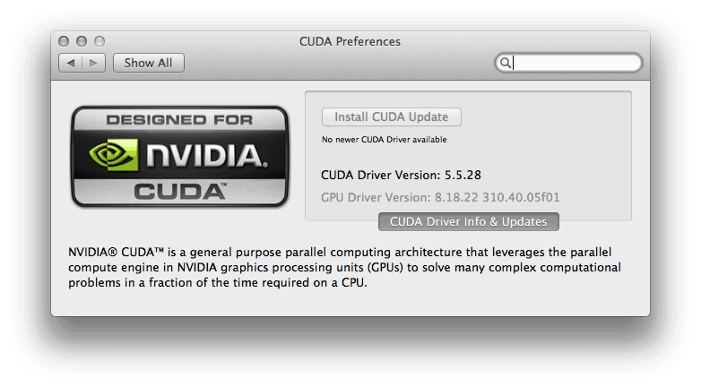 NVIDIA CUDA Driver