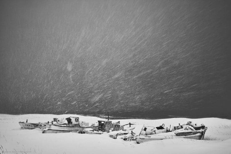 Snow Storm at Boat Graveyard