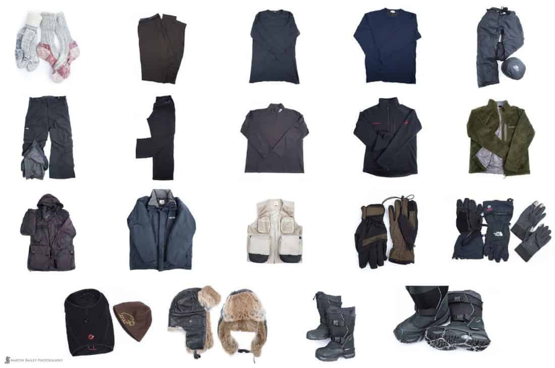 Winter Photography Clothing