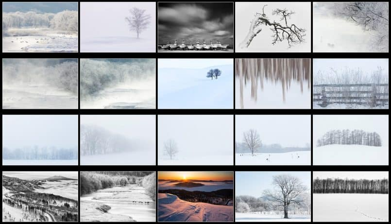 Japan Winter Scenes Wallpaper Package