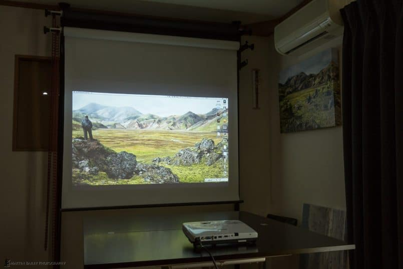 Using Manfrotto Expan System as Projection Screen
