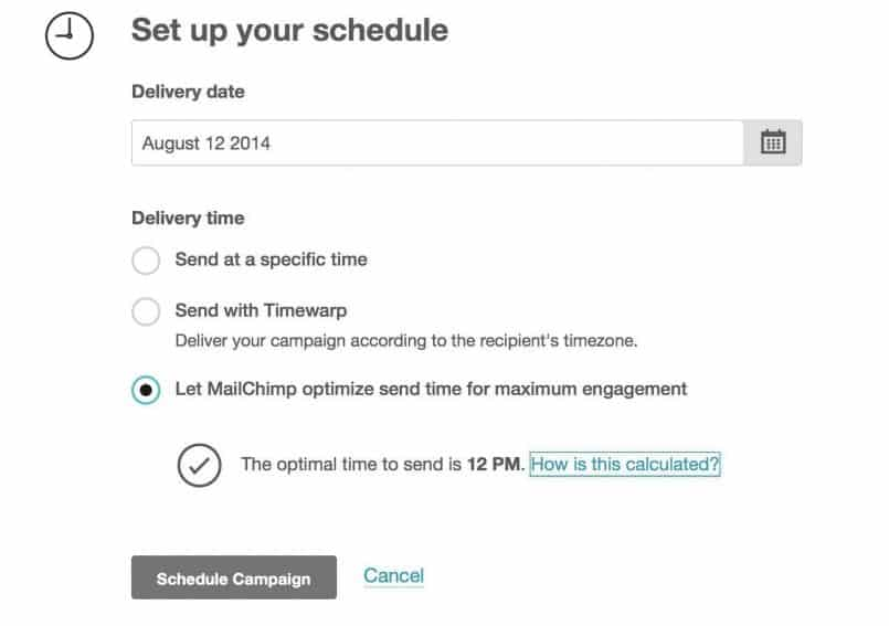 MailChimp Send Scheduling