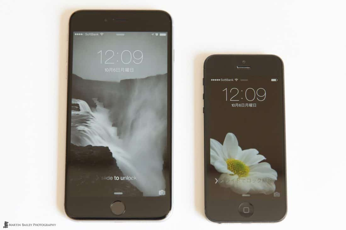 iPhone 6 Plus with iPhone 5