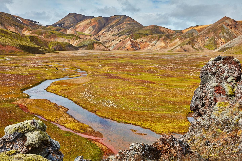 River and Valley at Landmannalaugar