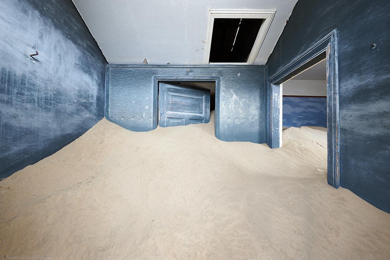 Kolmanskop Blue Sand-Filled Room