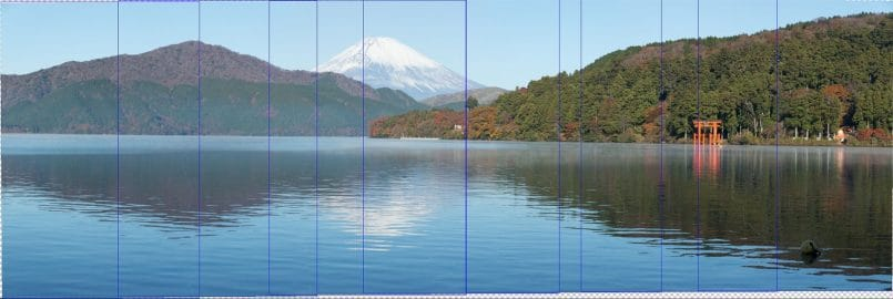Pano of Mt. Fuji with Photo Edges