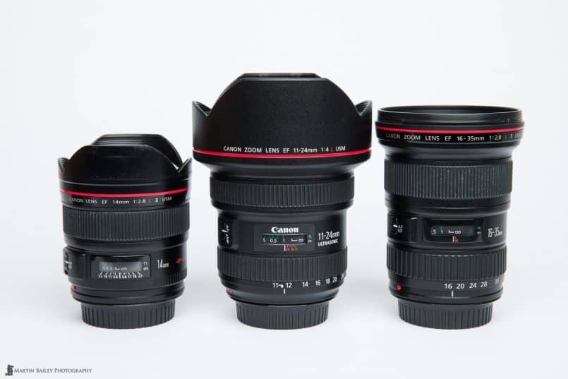 Canon EF 14mm, 11-24mm & 16-35mm Lenses