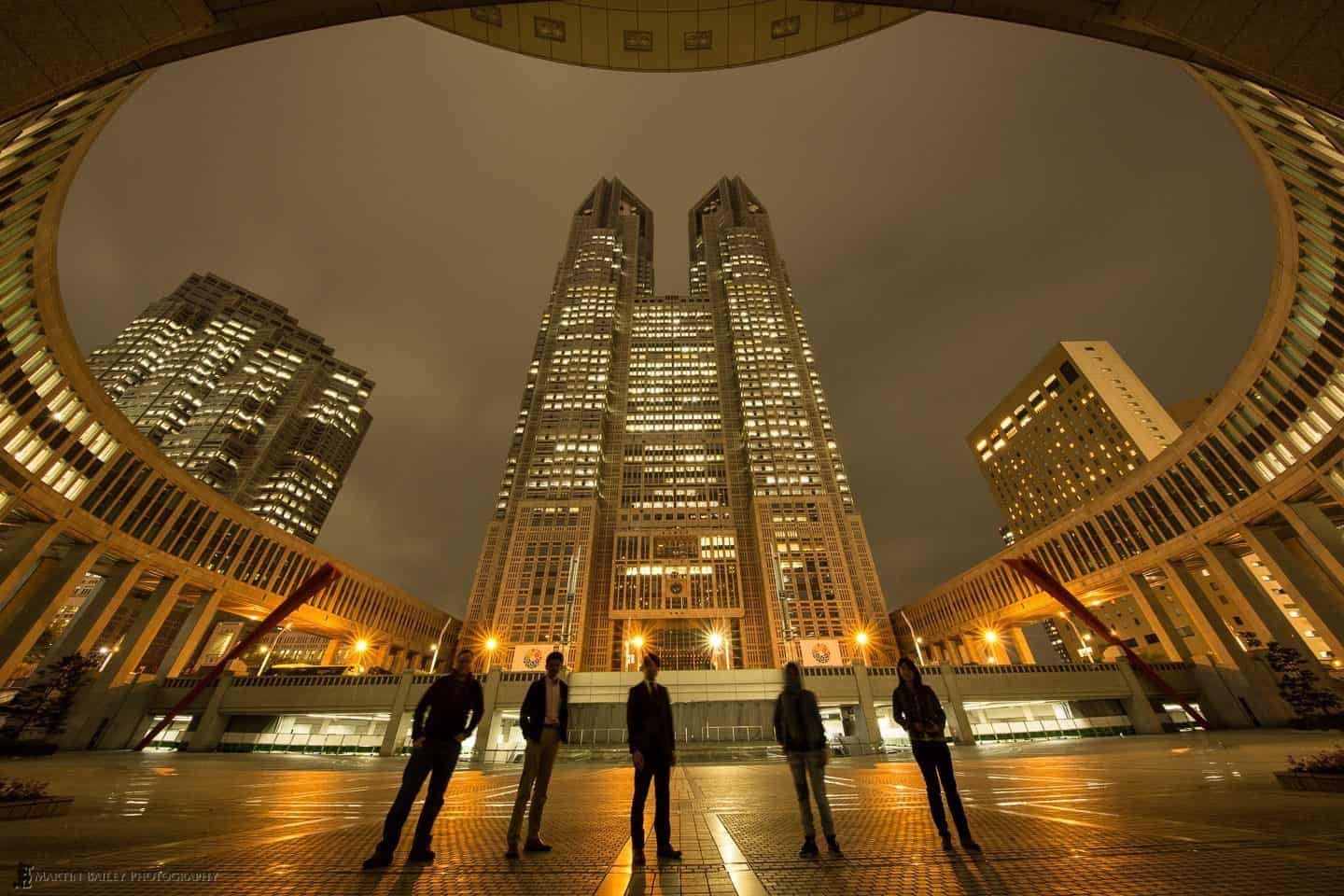 With Friend's at Tokyo Metropolitan Government Building