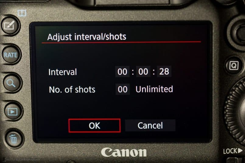 Canon EOS 5Ds R - Intervalometer
