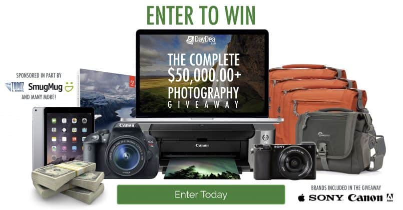 5DayDeal Complete $50,000 Photography Giveaway!