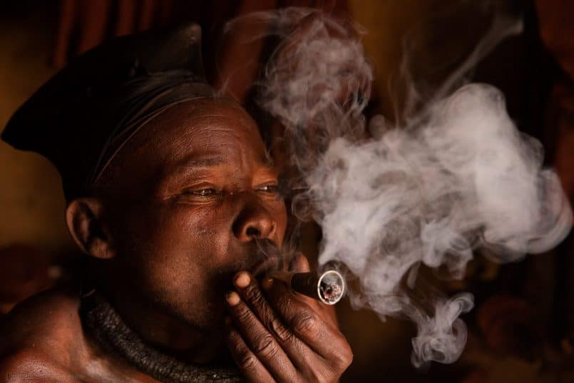 "Himba Man ""Hidion"" Smoking"