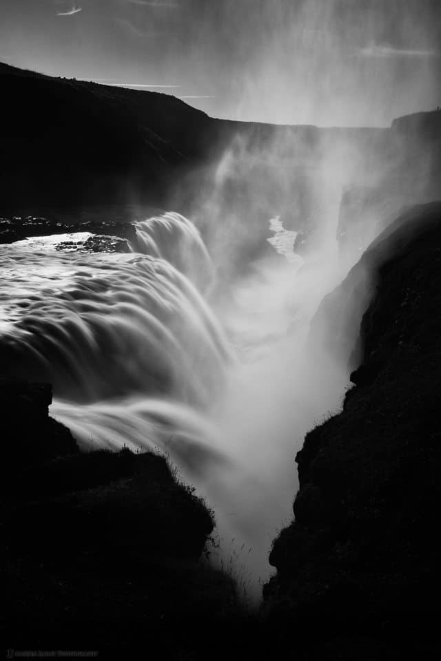 Gullfoss Falls with Gorge