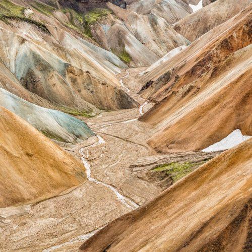 Colored Mountains Near Landmannalaugar