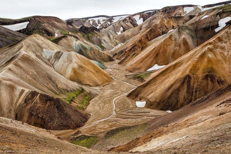 Colored Mountains Near Landmannalaugar