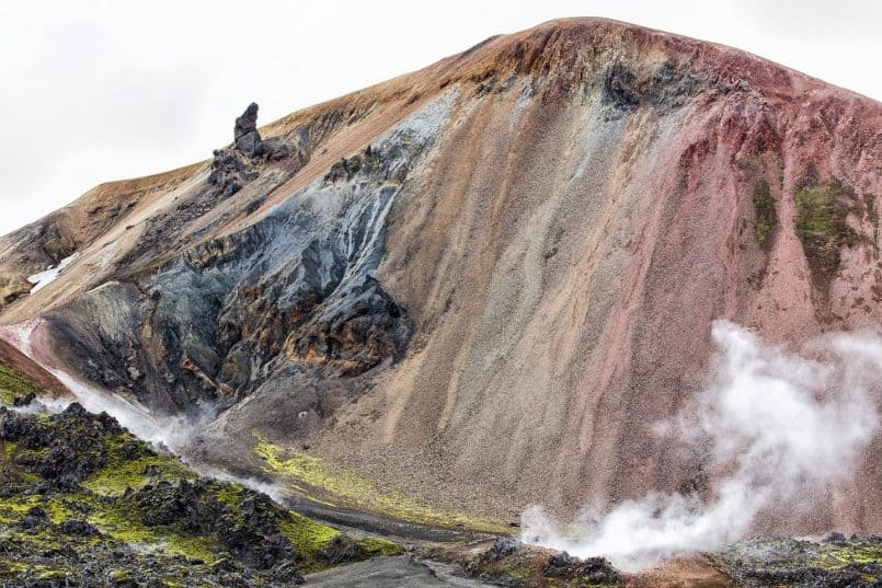 Rainbow Colored Mountain Near Landmannalaugar